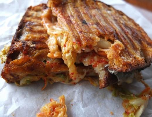 Cheese and Kimchi Toasties